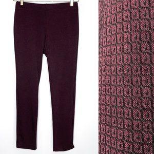 Ecru Springfield Red Ponte Slim Fit Ankle Pants 8